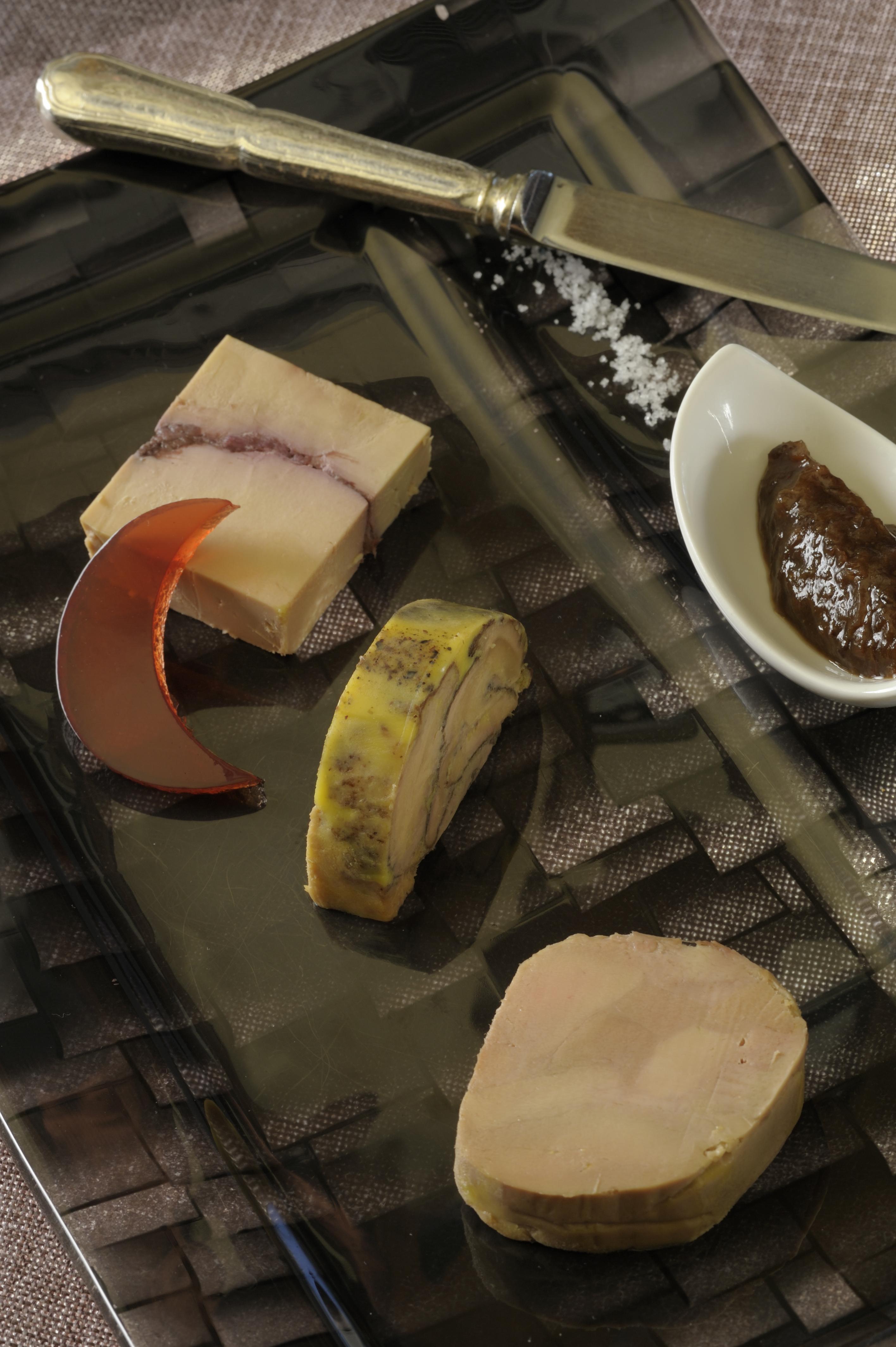 089-Trilogie de foie gras - Hostellerie la Cheneaudiere ©Jo Pesendorfer - Copie
