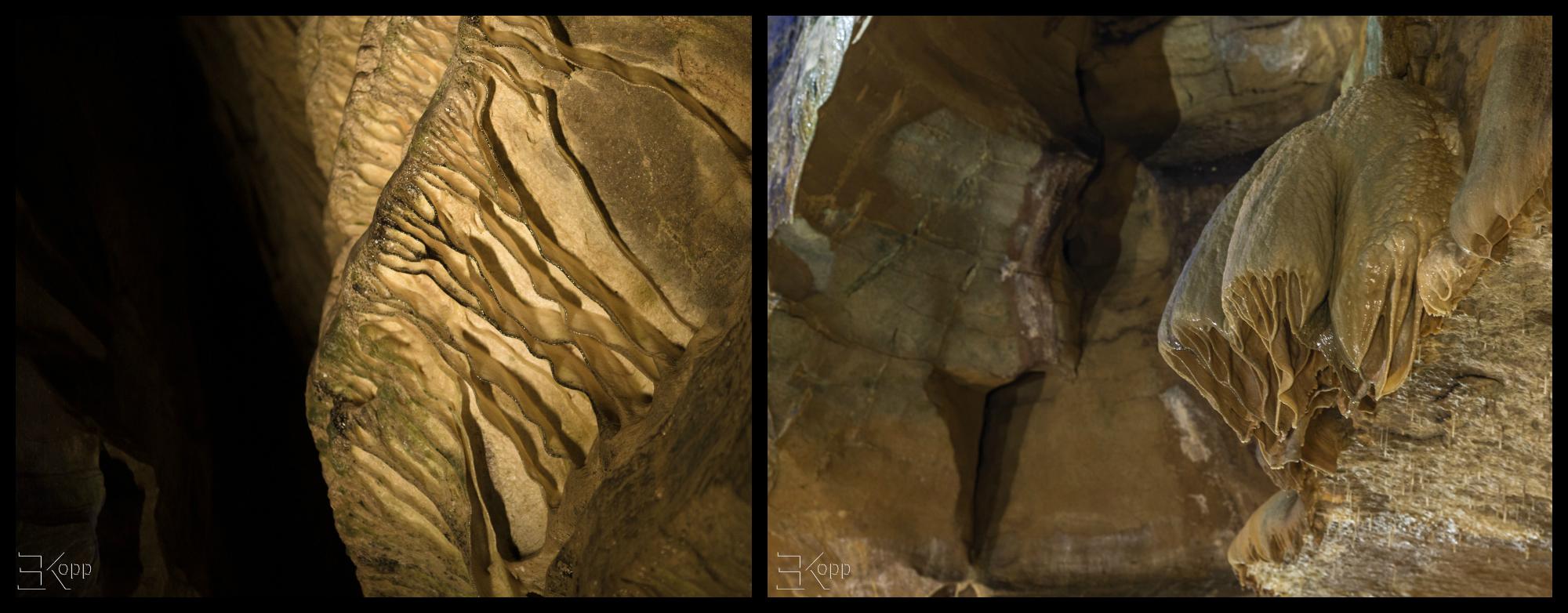 drapé grotte