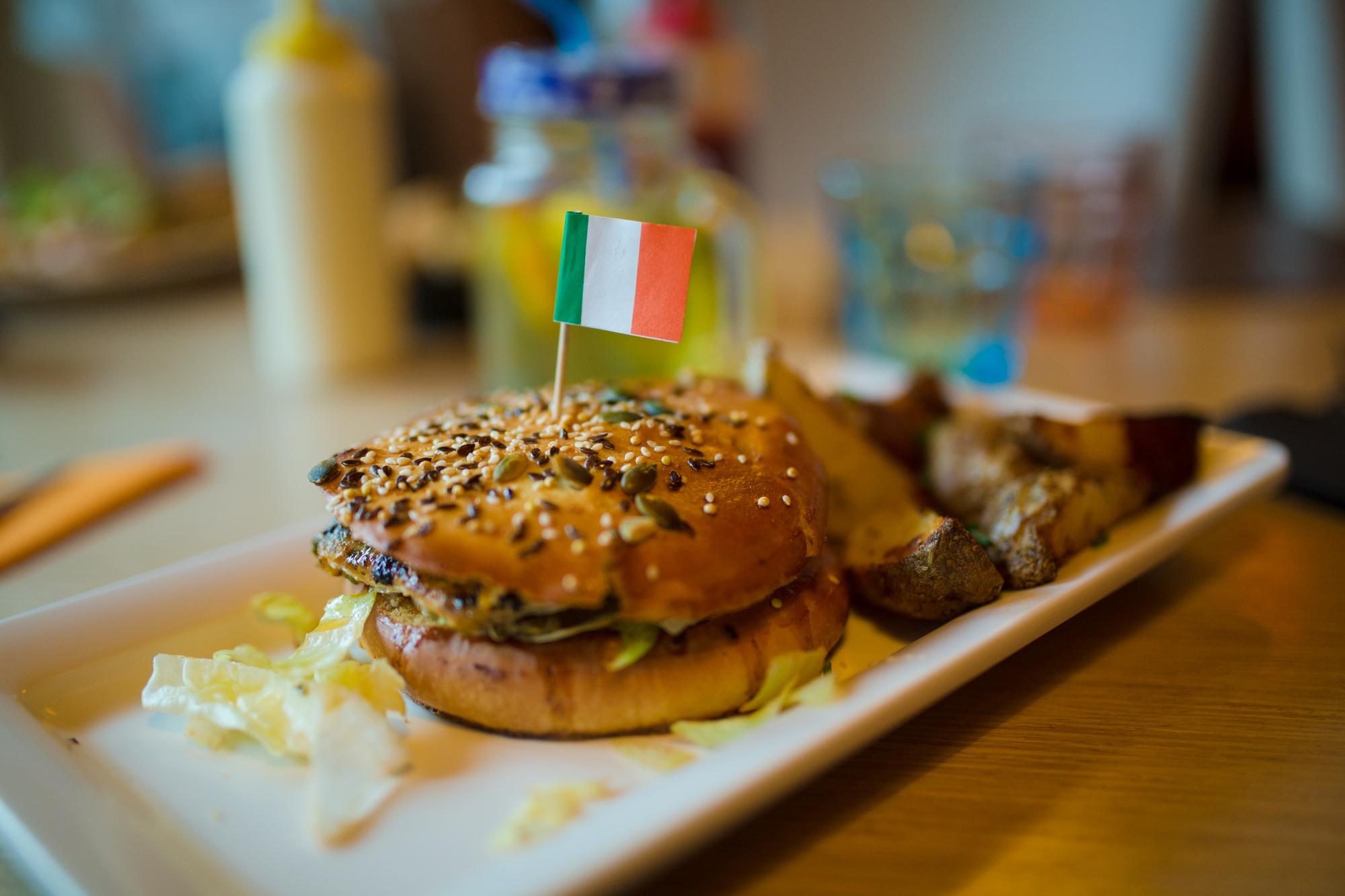 le burger italien, miam !