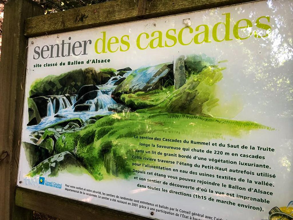 Carte Randonnee Alsace.Le Sentier Des Cascades Ballon D Alsace A La Conquete De